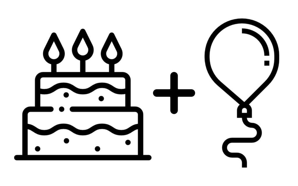 zestaw tort+balon _bw